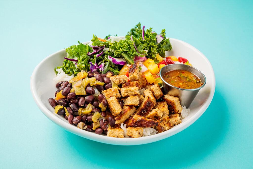 Plant-Based Caribbean Jerk Chicken Bowl